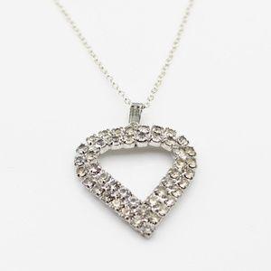 Gorgeous vintage cz heart necklace